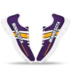 Designs by MyUtopia Shout Out:#HeedTheCallOfSkol Minnesota Fan Running Shoes