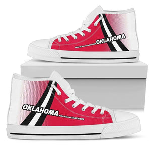 Designs by MyUtopia Shout Out:#HereComesTheBoomer Oklahoma Canvas High Top Shoes