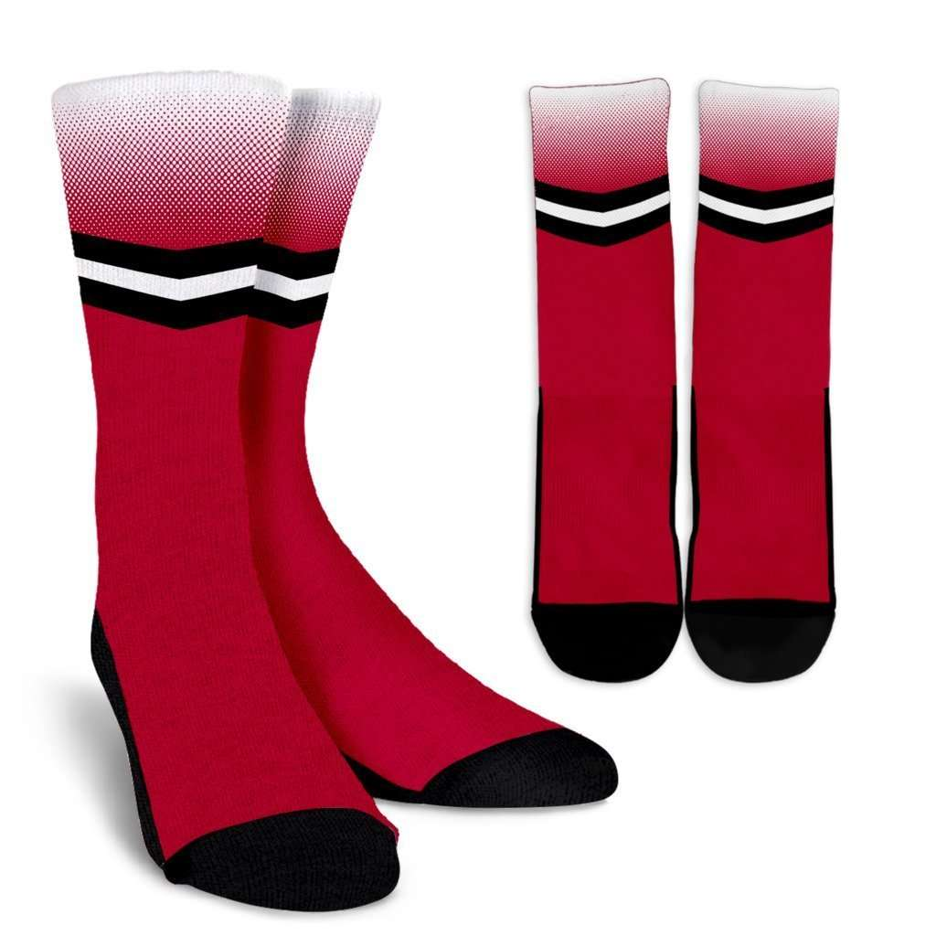 Designs by MyUtopia Shout Out:#HereComesTheBoomer Oklahoma Crew Socks,Small/Medium / Red,Socks