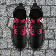 Load image into Gallery viewer, Designs by MyUtopia Shout Out:#HereComesTheBoomer Oklahoma Fan Faux Leather 7 Eye Lace-up Boots