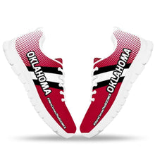 Load image into Gallery viewer, Designs by MyUtopia Shout Out:#HereComesTheBoomer Oklahoma Fan Running Shoes