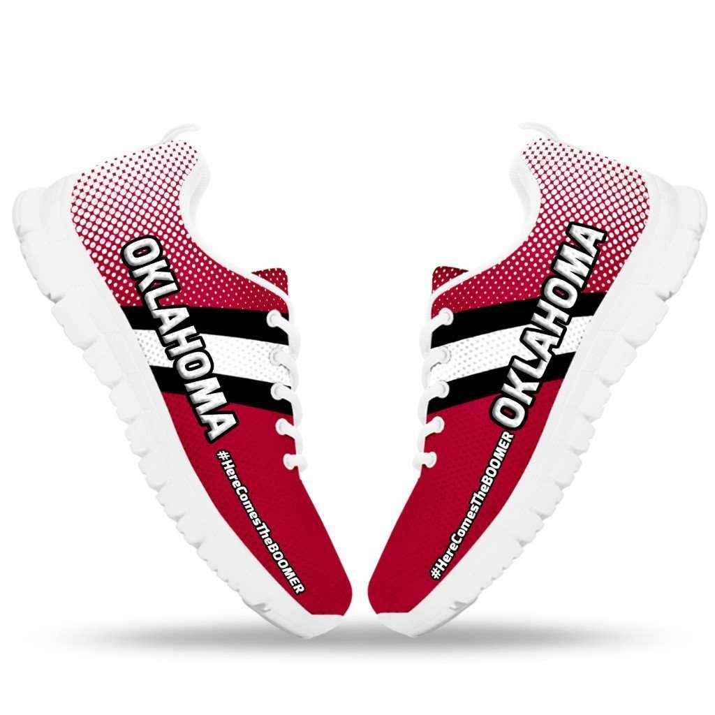 Designs by MyUtopia Shout Out:#HereComesTheBoomer Oklahoma Fan Running Shoes