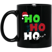 Load image into Gallery viewer, Designs by MyUtopia Shout Out:Ho Ho Ho - Christmas Ceramic Coffee Mug - Black,Black / 11 oz,Apparel