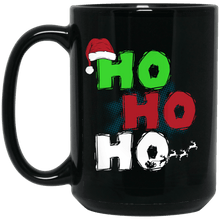 Load image into Gallery viewer, Designs by MyUtopia Shout Out:Ho Ho Ho - Christmas Ceramic Coffee Mug - Black,Black / 15 oz,Apparel