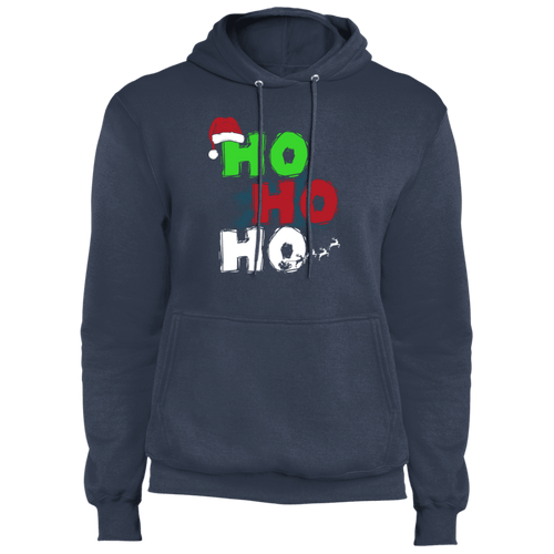 Designs by MyUtopia Shout Out:Ho Ho Ho - Christmas Core Fleece Unisex Pullover Hoodie,Navy / S,Sweatshirts