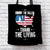 Designs by MyUtopia Shout Out:Honor The Fallen Thank The Living Memorial Day Fabric Totebag Reusable Shopping Tote
