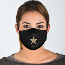 Load image into Gallery viewer, Designs by MyUtopia Shout Out:Honor The Fallen Thank The Living Star Adult Fabric Face Mask with Elastic Ear Loops