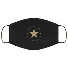 Load image into Gallery viewer, Designs by MyUtopia Shout Out:Honor The Fallen Thank The Living Star Adult Fabric Face Mask with Elastic Ear Loops,3 Layer Fabric Face Mask / Black / Adult,Fabric Face Mask
