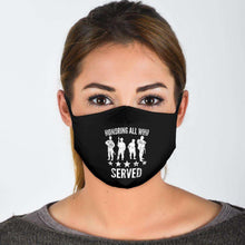 Load image into Gallery viewer, Designs by MyUtopia Shout Out:Honoring All Who Served Adult Fabric Face Mask with Elastic Ear Loops