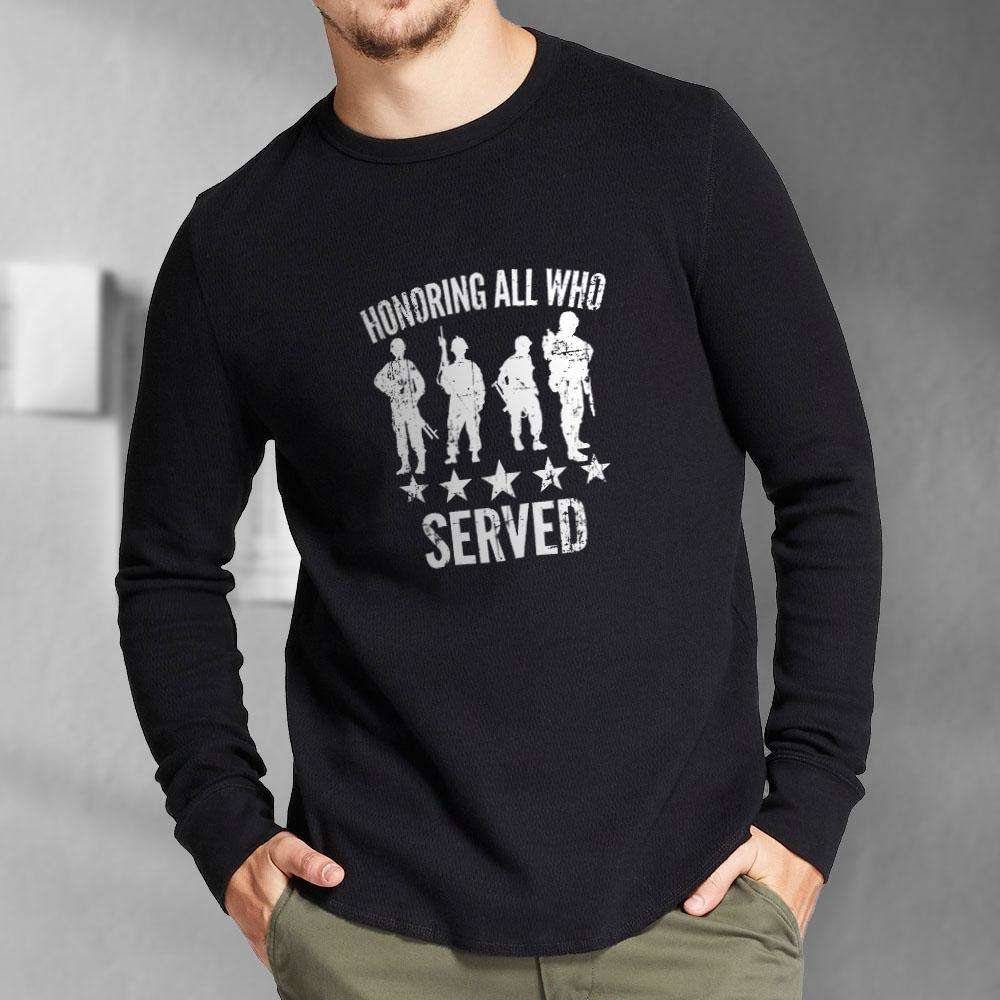 Designs by MyUtopia Shout Out:Honoring All Who Served Long Sleeve Ultra Cotton T-Shirt