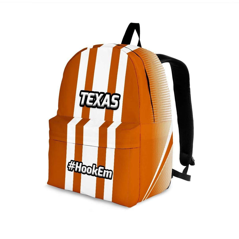 Designs by MyUtopia Shout Out:#HookEm Texas Backpack,Large (18 x 14 x 8 inches) / Adult (Ages 13+) / Orange,Backpacks