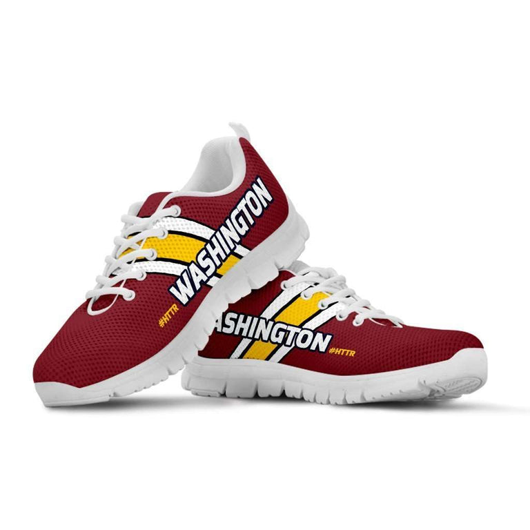 Designs by MyUtopia Shout Out:#HTTR Washington Redskins Fan Running Shoes,Mens US5 (EU38) / Burgundy,Running Shoes