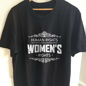 Designs by MyUtopia Shout Out:Human Rights Women's Rights Adult Unisex T-Shirt,S / Black,Adult Unisex T-Shirt