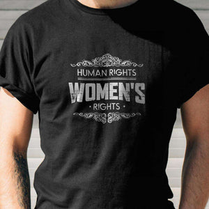 Designs by MyUtopia Shout Out:Human Rights Women's Rights Adult Unisex T-Shirt