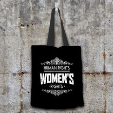Load image into Gallery viewer, Designs by MyUtopia Shout Out:Human Rights Women's Rights Fabric Totebag Reusable Shopping Tote