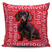 Load image into Gallery viewer, Designs by MyUtopia Shout Out:Humorous Dachshund Pillowcases,Red,Pillowcases