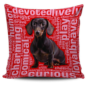 Designs by MyUtopia Shout Out:Humorous Dachshund Pillowcases,Red,Pillowcases