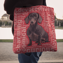 Load image into Gallery viewer, Designs by MyUtopia Shout Out:Humourous Dachshund Fabric Totebag Reusable Shopping Tote