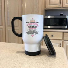 Load image into Gallery viewer, Designs by MyUtopia Shout Out:I Am A Christian Girl Travel Mug
