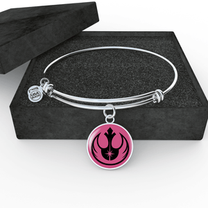 Designs by MyUtopia Shout Out:I am a Rebel Jedi Charm and Wire Bracelet