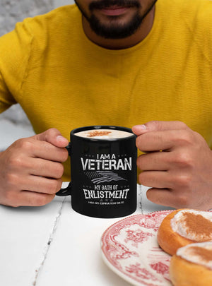 Designs by MyUtopia Shout Out:I Am A Veteran My Oath of Enlistment Has No Expiration Ceramic Coffee Mug