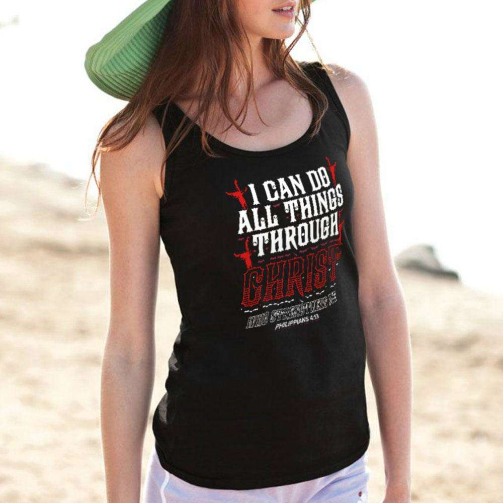 Designs by MyUtopia Shout Out:I Can Do All Things Through Christ Ultra Cotton Unisex Tank Top
