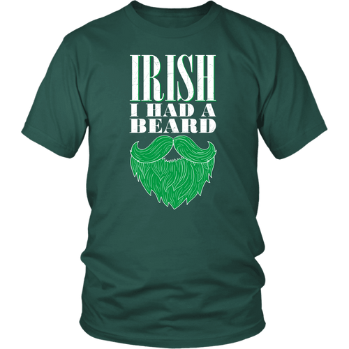Designs by MyUtopia Shout Out:I had a Beard T-shirt,Dark Green / S,Adult Unisex T-Shirt