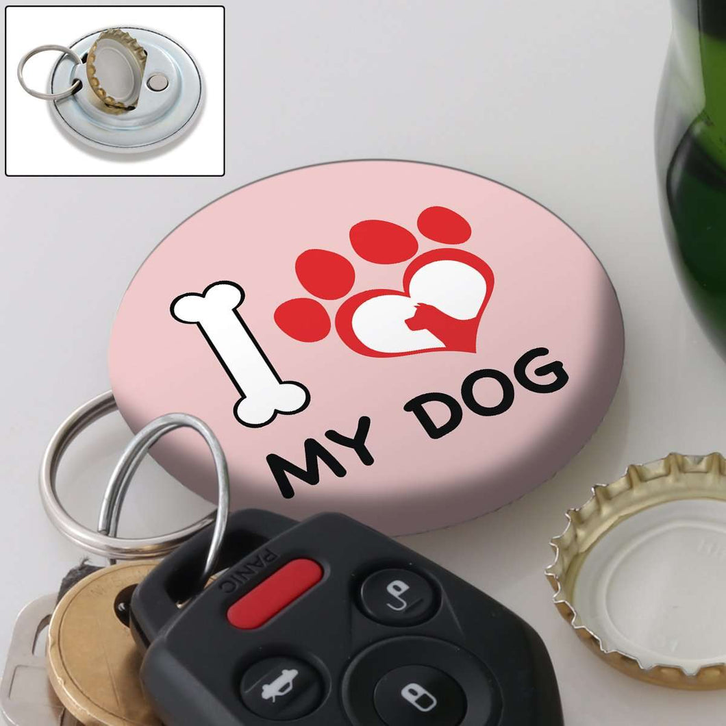 Designs by MyUtopia Shout Out:I Love My Dog Magnetic Key chain and bottle opener