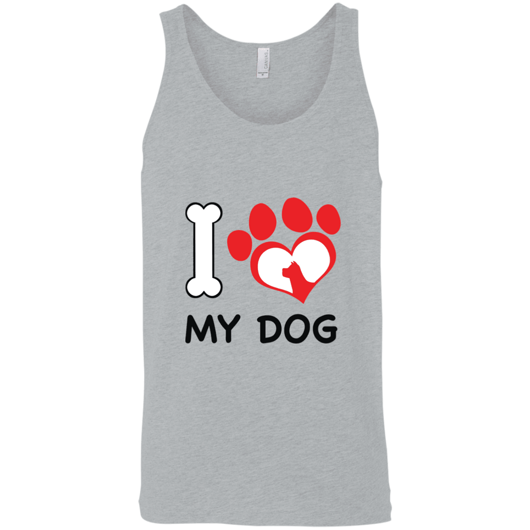 Designs by MyUtopia Shout Out:I Love My Dog Ultra Cotton Unisex Tank Top,Athletic Heather / X-Small,Tank Tops