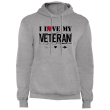 Load image into Gallery viewer, Designs by MyUtopia Shout Out:I Love My Veteran Core Fleece Pullover Hoodie,Athletic Heather / S,Pullover Hoodie