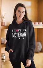 Load image into Gallery viewer, Designs by MyUtopia Shout Out:I Love My Veteran Core Fleece Pullover Hoodie