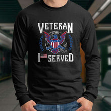 Load image into Gallery viewer, Designs by MyUtopia Shout Out:I Served U.S. Navy Veteran Long Sleeve Ultra Cotton T-Shirt
