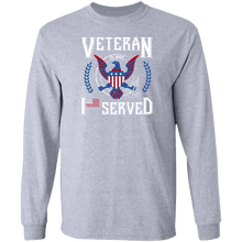 Load image into Gallery viewer, Designs by MyUtopia Shout Out:I Served U.S. Navy Veteran Long Sleeve Ultra Cotton T-Shirt,Sport Grey / S,Long Sleeve T-Shirts