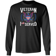Load image into Gallery viewer, Designs by MyUtopia Shout Out:I Served U.S. Navy Veteran Long Sleeve Ultra Cotton T-Shirt,Black / S,Long Sleeve T-Shirts