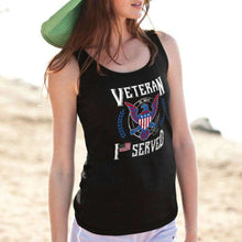Load image into Gallery viewer, Designs by MyUtopia Shout Out:I Served U.S. Navy Veteran Unisex Tank