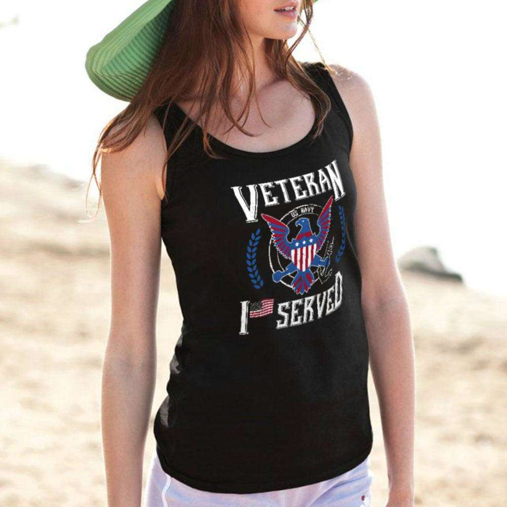 Designs by MyUtopia Shout Out:I Served U.S. Navy Veteran Unisex Tank