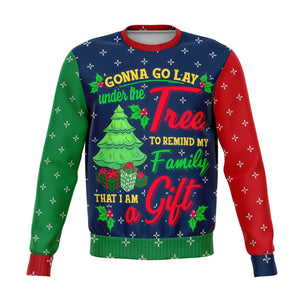 Designs by MyUtopia Shout Out:I'm a gift to my Family - 3D Ugly Christmas Holiday Fashion Sweatshirt,XS / Multi,Fashion Sweatshirt - AOP