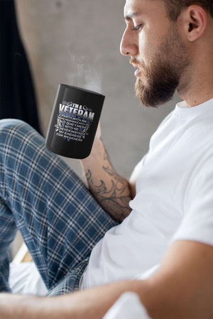 Designs by MyUtopia Shout Out:I'm A Veteran Don't Mess With Me Ceramic Coffee Mug