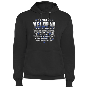 Designs by MyUtopia Shout Out:I'm A Veteran Don't Mess With Me Core Fleece Pullover Hoodie,S / Jet Black,Pullover Hoodie