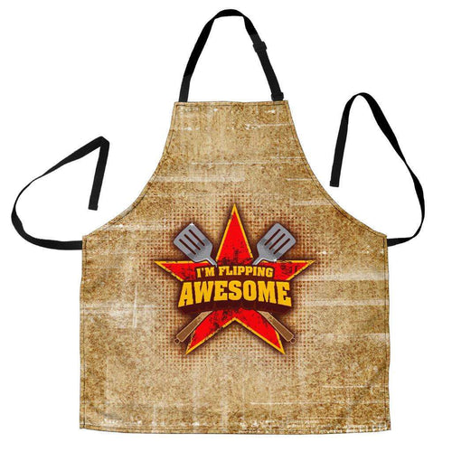 Designs by MyUtopia Shout Out:I'm Flipping Awesome Funny Apron, Kitchen, Baking, BBQ, Grilling,Men's Apron / Universal Fit,Apron
