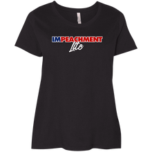 Load image into Gallery viewer, Designs by MyUtopia Shout Out:Impeachment Lite Trump Ladies' Plus Size Curvy T-Shirt,Black / Plus 1X,Ladies T-Shirts