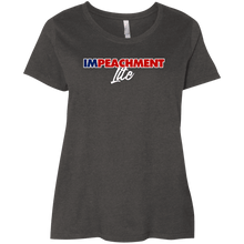 Load image into Gallery viewer, Designs by MyUtopia Shout Out:Impeachment Lite Trump Ladies' Plus Size Curvy T-Shirt,Vintage Smoke / Plus 1X,Ladies T-Shirts