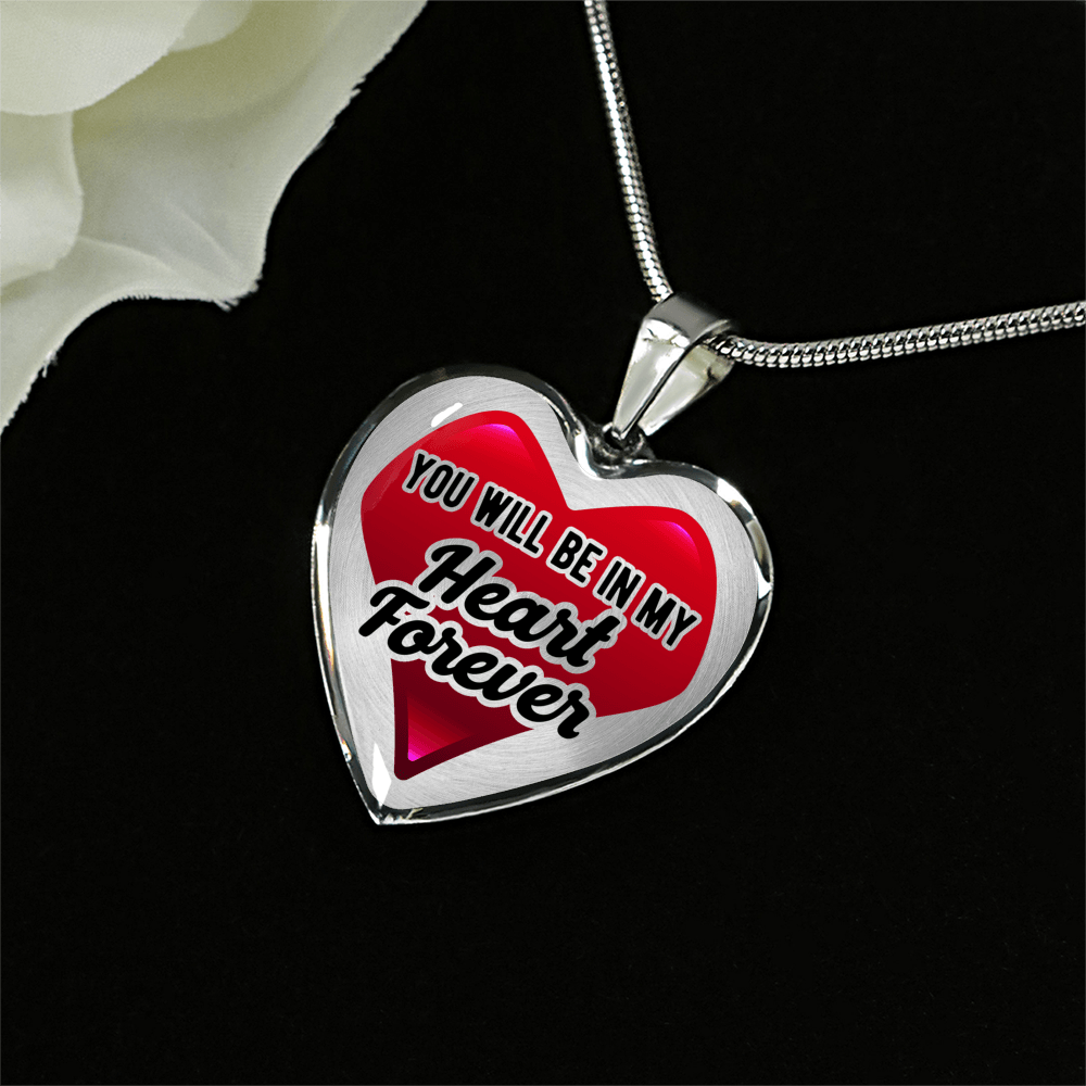 Designs by MyUtopia Shout Out:In My Heart Forever Bangle,Luxury Adjustable Necklace / No / Red/Silver,Necklace