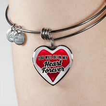 Load image into Gallery viewer, Designs by MyUtopia Shout Out:In My Heart Forever Bangle,Adjustable Bangle / No / Red/Silver,Necklace