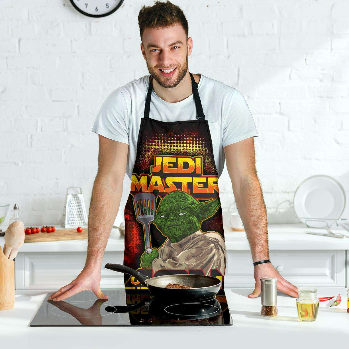 Designs by MyUtopia Shout Out:Jedi Master of the Grill, Funny BBQ Grilling Apron