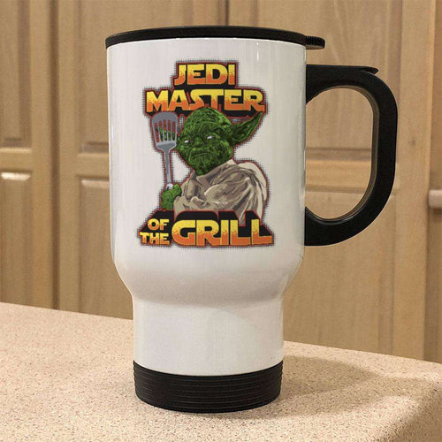 Designs by MyUtopia Shout Out:Jedi Master of the Grill Travel Mug