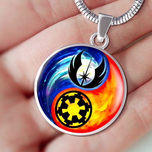 Designs by MyUtopia Shout Out:Jedi Phoenix / Imperial Cog Ying Yang Handcrafted Jewelry,Necklace w/18