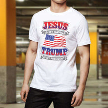 Load image into Gallery viewer, Designs by MyUtopia Shout Out:Jesus Is My Savior Trump Is My President Adult Unisex T-Shirt