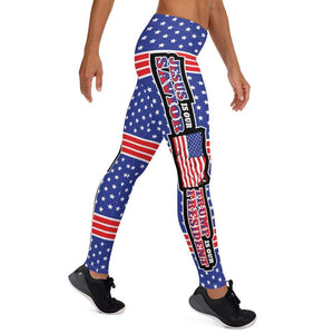 Designs by MyUtopia Shout Out:Jesus Is My Savior Trump Is My President All-Over Print Leggings,XS / Multi,Yoga Leggings