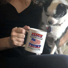Load image into Gallery viewer, Designs by MyUtopia Shout Out:Jesus Is My Savior Trump Is My President Ceramic Coffee Mugs - White